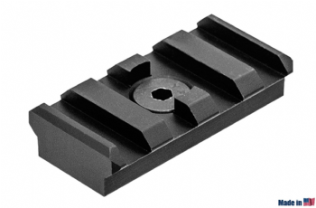 Leapers UTG PRO M-LOK 4-Slot Picatinny Rail Section Black MTURS09S
